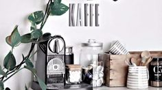 Home Office Decor Inspiration is extremely important for your home. Whether you choose the Office Interior Design Ideas Modern or Office Design Corporate Business, you will make the best Interior Design Inspiration Board for your own life. Office Interior Design, Home Office Decor, Kitchen Interior, Elegant Home Decor, Elegant Homes, Coffee Bar Home, Coffee Shop, Office Coffee Station, Ikea Shoe Cabinet