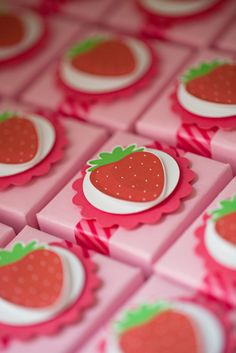 lovely strawberry and flowers party