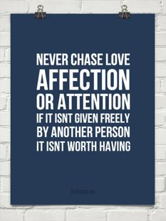 Never chase .....