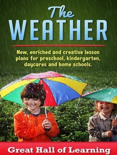 Over 60 pages of new, enriched and creative ideas for preschool, kindergarten, daycares and home schools for a unit on the weather Circle time: 12 Songs and poems and several group activities and discussions Crafts: 26 crafts for the children to make Math ideas: Counting, estimating and additio... Kindergarten Lesson Plans, Kindergarten Science, Elementary Science, Teaching Science, Teaching Ideas, Weather Lesson Plans, Weather Lessons, Starting A Daycare, Good Communication Skills