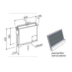 Kóty odsávání z pracovní desky mezi varné zóny. (indukce /sklokeramika)  SIRIUS SDD 17 JOLLY Design, Simple Lines