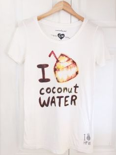 I Love Coconut Water T-shirt | Hawaiian Clothes For Women | Hawaiian Clothing For Women