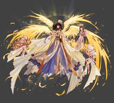 Pan Xiaobao (^ _^) collected Q version of cartoon ~ animation (ACG) _ petal anime Anime Angel, Character Concept, Character Art, Concept Art, Amaterasu, Angel And Devil, Fantasy Kunst, Anime Kunst, Character Design References