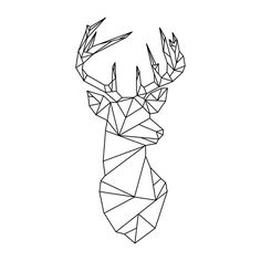 Geometric Deer Sticker By Alice Bouchardon