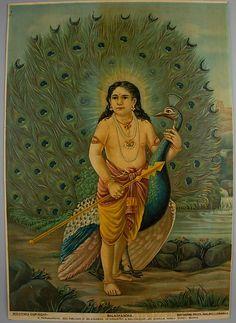 Balaskandha, 1920–30 - Calendar print from Ravi varma press. India. The Metropolitan Museum of Art, New York.