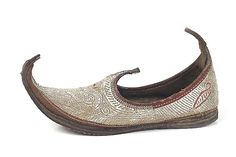 Turkish Silver Shoes with Turned up Toes Turkey- Late 19th century  shoe