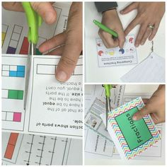 Fun fraction mini-book that reviews every third grade fraction concept. Comparing Fractions, Fractions Worksheets, Math Fractions, Elementary Math, Upper Elementary, Fun Math, Math Games, Math Place Value, Math Classroom