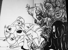 Scooby dooby doo... #moleskine, #molekine_arts, #staedtler, #mystaedtler, #art, #arte, #drawing, #draw, #childhood, #scoobydoo, #scooby, #scoobydoobydoo, #shaggy, #monsters, #running, #blackartwork, #inkart, #texture, #iblackwork, #blackandwhite, #cartoonnetwork