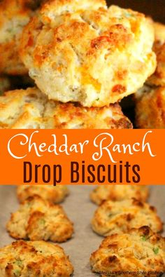 Cajun Delicacies Is A Lot More Than Just Yet Another Food Cheddar Ranch Drop Biscuits Homemade Biscuits Recipe, Bisquick Recipes, Bread Recipes, Scone Recipes, Thm Recipes, Buttery Biscuits, Drop Biscuits, Making Biscuits, Cheddar Biscuits