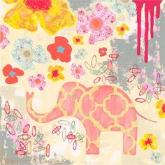 Dress up a bare wall with the Herbaceous Elephant Canvas Wall Art from Oopsy Daisy.  Canvas wall art is perfect for adding color and style to bedrooms, playrooms, nurseries and even bathrooms!