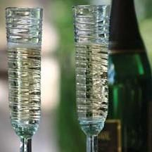 At West End - recycled swirl Champagne flutes