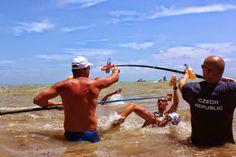 "The Daily News of Open Water Swimming: Pit Stop In La Playa Del Carmen : Courtesy of WOWSA , Huntington Beach , California . "" Two more la. Open Water Swimming, Huntington Beach, Daily News, California, Playa Del Carmen"
