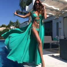 Beachwear Fashion, Beachwear For Women, Women Swimsuits, Best Lingerie, Lingerie Dress, Pool Party Outfits, Summer Holiday Outfits, Top Wedding Dresses, Swimwear Cover Ups