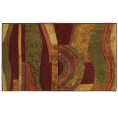 Combining a pallete of earth tones accented by red this rug is a bold contemporary statement. This artistic abstract pattern is great for both living room a
