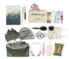 Beth greene inspired travel bag - twd / the walking dead by shadyannon on Polyvore featuring polyvore fashion style Monki Yves Saint Laurent Converse Maybelline bkr Cath Kidston Laura Mercier Fringe Beats by Dr. Dre Barbour Handle clothing