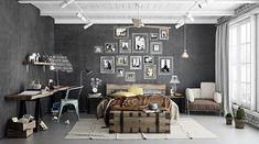 Consigue un dormitorio personalizado en vintage industrial   Decorar tu casa es facilisimo.com