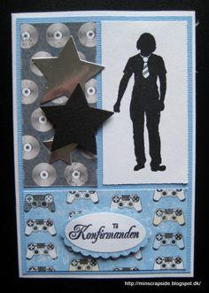 Min scrapside: Konfirmationskort til drenge