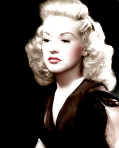 Betty Grable (Color by Brenda J Mills)