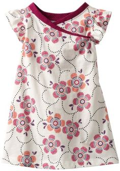 Baby-girls Infant Flutter Sleeve Wrap Neck Dress