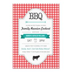 Fun BBQ Family Reunion Invite #BBQ #family #reunion #invite