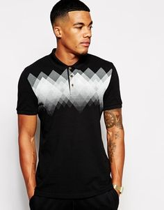 ASOS Polo Shirt With Argyle Print