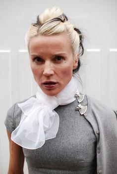 Art Deco shoe clips on her  dress - love it!!!