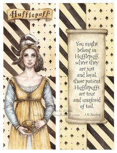 I think this is the only picture where Helga Hufflepuff isn't a fat old lady but truly young and beautiful.