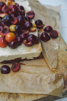 vegan + almost raw bourbon cherry cheesecake // the first mess