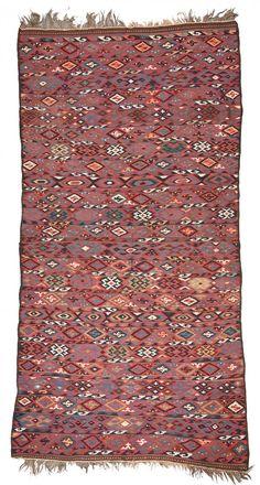 Veramin Kilim  350 x 170 cm (11ft. 6in. x 5ft. 7in.) Persia ca. 1900