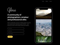 Glass - glass.photo Web Design Trends, Inspire Others, Cool Websites, How To Introduce Yourself, Glass Photo, Motivation, Landing, Inspiration
