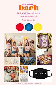 FRIENDS Themed Bachelorette Tassel Garland, Balloon Garland, Balloons, Bachelorette Party Themes, Winter Springs, Girls Tees, Friend Photos, Gift Bags, Photo Props