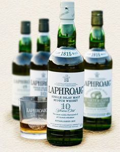 Laphroaig Single Malt Whisky - So much to like here for the price.  Smokey, peaty, just plain good.