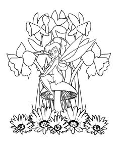 99 best TinkerBell Coloring Pages images on Pinterest | Coloring ...