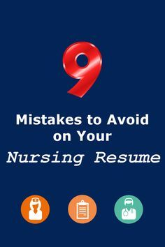 Be sure to avoid these mistakes on your #nursing #resume
