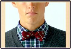 One of my most favorite things to do is to mix bold colors and patterns.  Plaid shirts and bow ties are everything to me.