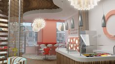 Apricato was one of the first yogurt shops Mindful Design Consulting designed in the US.