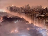 New York City Skyline  Photograph by Jim Richardson, National Geographic  At times, the overall color of a scene can be so different from the way we normally see it that we hardly recognize the place. Seeing lush, green Central Park in a pink fog changes it completely in Jim Richardson's stunning view, shot from a hotel window. —Annie Griffiths    Photo Tip: Bad weather makes great pictures. It can also make the familiar completely new. So head out in that snowstorm and find ways to shoot in…