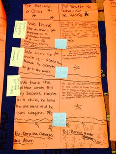 Students use butcher paper to compare and contrast stories. #21stcenturylearning #reading #collaboration