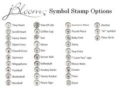 www.myjbloom.com/marshahernandez Hand Stamp Symbols