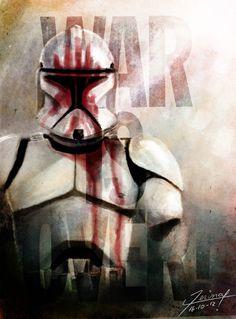Clone trooper from Star Wars Star Wars Clone Wars, Star Wars Art, Star Trek, Stormtrooper, Darth Vader, Walt Disney Pictures, Boba Fett, Starwars, Dc Comics