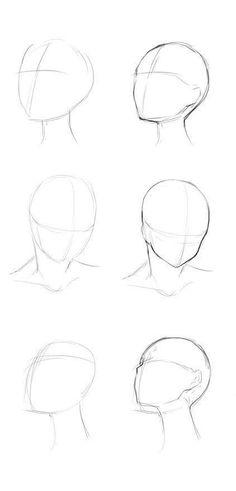 reference for drawing / reference for drawing ; reference for drawing people ; reference for drawing poses ; reference for drawing face Anime Drawings Sketches, Pencil Art Drawings, Easy Drawings, Drawing Faces, Kawaii Drawings, Drawing People Faces, Anime Sketch, Sketches Of Faces, Face Side View Drawing