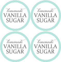 Homemade Vanilla Sugar Labels