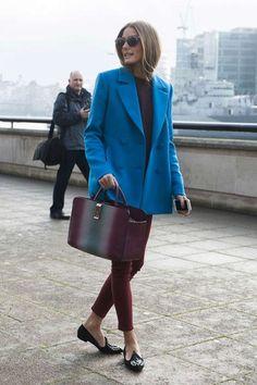 olivia palermo blue coat