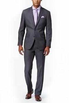 Multi Color 2PC Slim Fit Solid Color Men's Two Button Formal Business Suit #Desen #Slim
