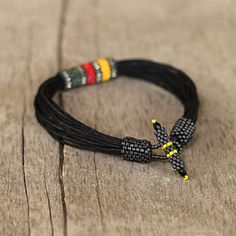 Your place to buy and sell all things handmade Cool Mens Bracelets, Rasta Colors, African Jewelry, Red Green, Yellow, Copper Jewelry, Bangles, Jewellery Diy, Buy And Sell