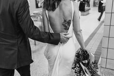 Bride and Groom Toronto Subway