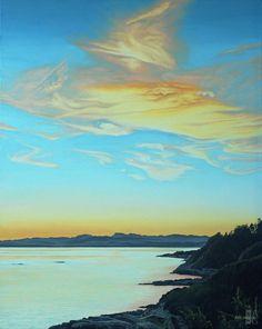 """Ron Parker - Golden Sundown - oil on canvas - 30"""" x 24"""""""
