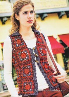 Vest of square motifs, domihobby.ru