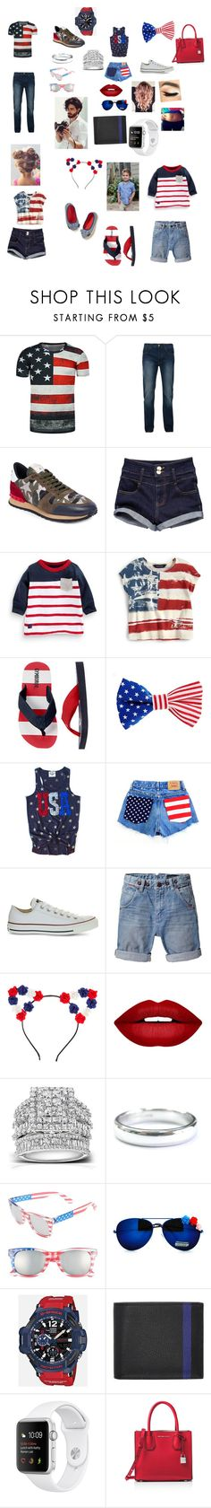 """""""Fourth of July"""" by miranda201518 ❤ liked on Polyvore featuring Bellfield, Valentino, Carter's, Ralph Lauren, ASOS, Converse, Scotch & Soda, Forever 21, Kobelli and Tiffany & Co."""