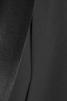 Alice Olivia - Merrie Satin-trimmed Crepe Cape - Black -